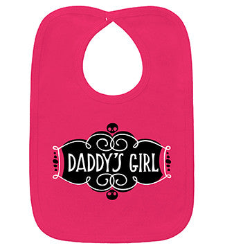 Daddy's Girl Hot Pink Bib