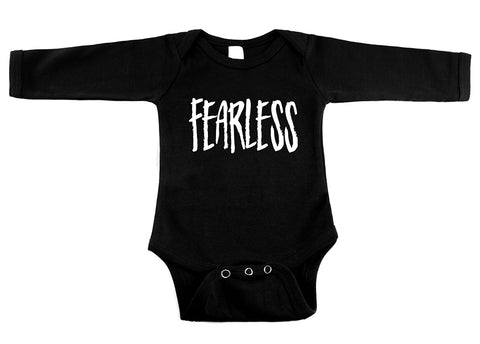 Fearless Black Long Sleeve One Piece
