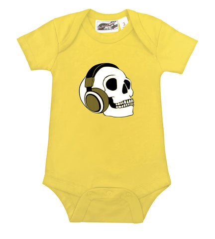 Headphone Skull Yellow One Piece