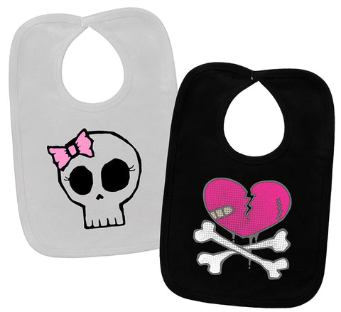 Heartbreaker & Girly Skull 2 Bib Gift Set
