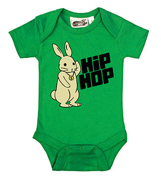 Hip Hop Bunny Rabbit Kelly Green One Piece
