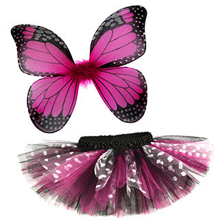 Hot Pink Butterfly Tutu & Wings Costume Set