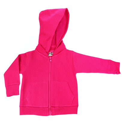 Hot Pink Signature Zip Up Hoodie w/ Detachable Hood