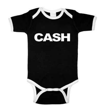 Johnny Cash Block Black & White Ringer One Piece