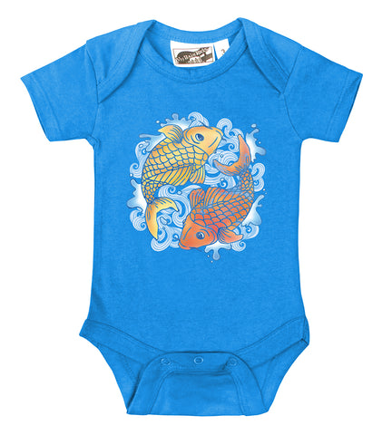 Koi Tattoo Turquoise & Orange One Piece