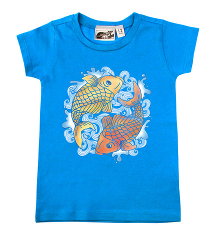 Koi Tattoo Turquoise & Orange T-shirt