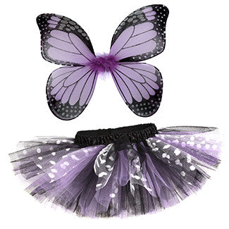 Lavender Butterfly Butterfly Tutu & Wings Costume Set