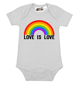 Love Is Love Rainbow White One Piece