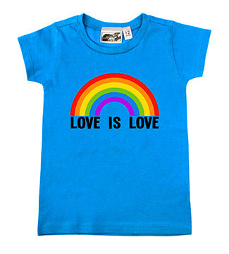 Love Is Love Rainbow Turquoise T-shirt