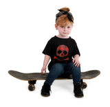Plaid Skull Black T-shirt