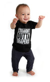 Straight Outta Diapers Black T-shirt