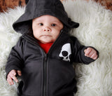 Nautical Stars & Skulls Charcoal Hoodie w/ Removable Hood