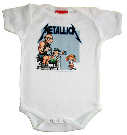 Metallica Tattoo White One Piece