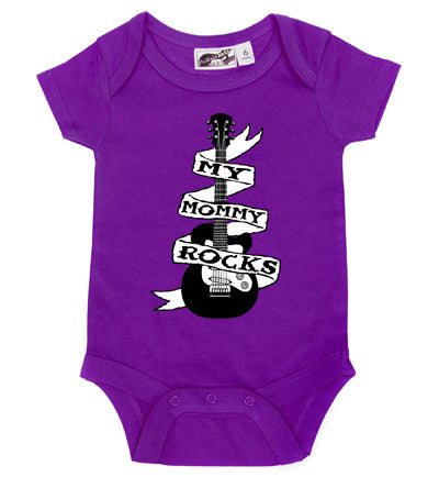 Mommy Rocks Guitar Tattoo Purple One Piece