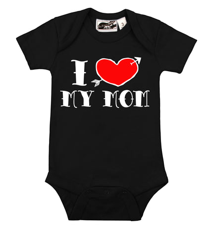 I love mom tattoo onesie