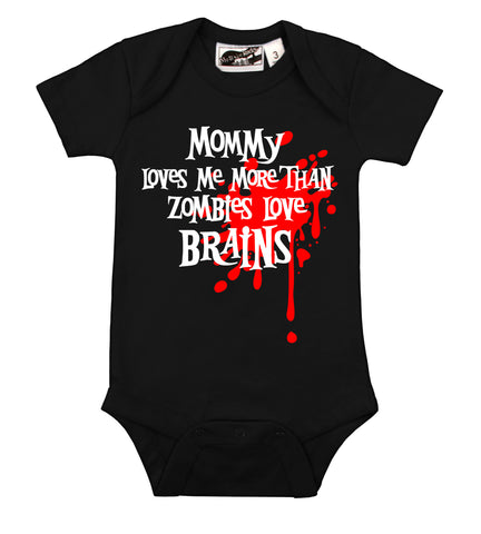 Mommy Loves Me Zombie Blood Splat One Piece