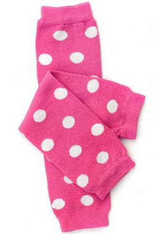 Hot Pink & White Polka Dots Leg Warmers
