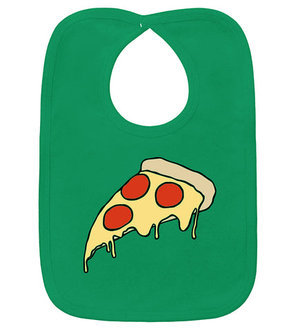 Pizza Party Kelly Green Bib