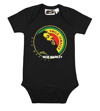 Bob Marley Smile Jamaica Black One Piece
