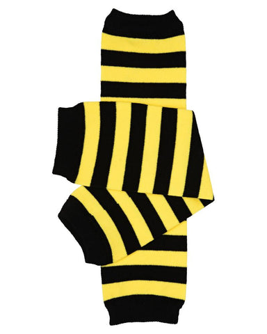 Bumble Bee Stripe Black & Yellow Leg Warmers