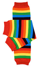 Rainbow Stripe Leg Warmers