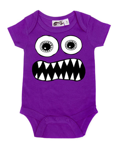 Toothy Monster Purple One Piece