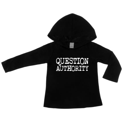 Question Authority Black Lightweight Hoodie