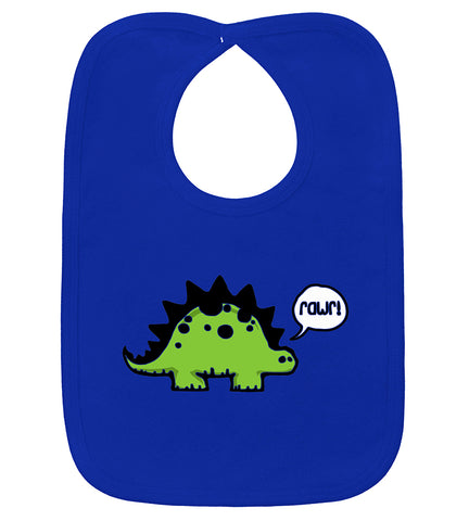Rawr Dinosaur Royal Blue Bib