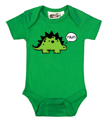 Rawr Dinosaur Kelly Green One Piece