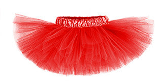Ruby Red Classic Tutu w/ Satin Waistband