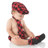 Red Buffalo Plaid Baby Boots