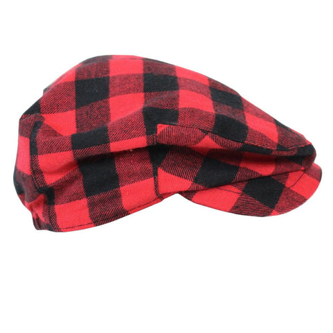 Red Buffalo Plaid Cabbie Hat