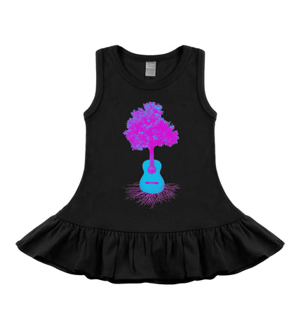 Acoustic Roots Black & Pink Sleeveless Dress
