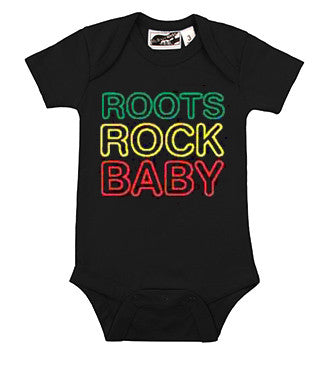 Bob Marley Roots Rock Baby Black One Piece