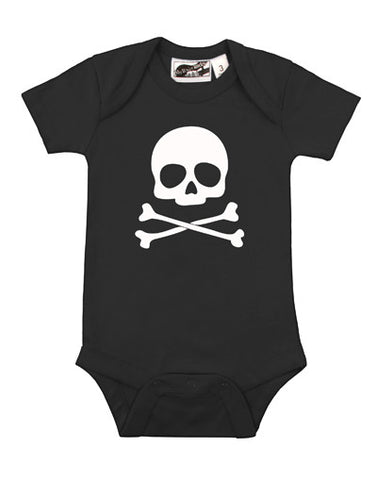 Skull & Crossbones Black & White One Piece