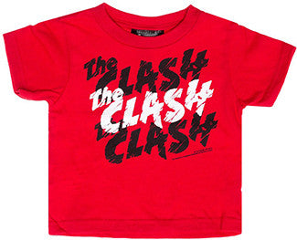 The Clash Repeat Logo Red T-shirt