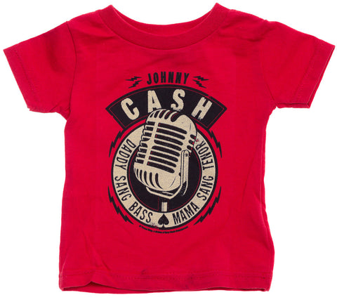 Johnny Cash Daddy Sang Bass Mama Sang Tenor Red T-shirt