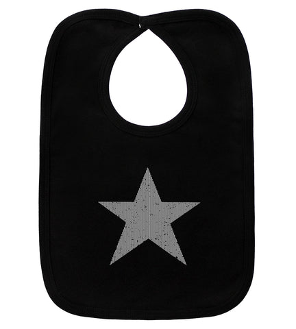 Star Black Bib