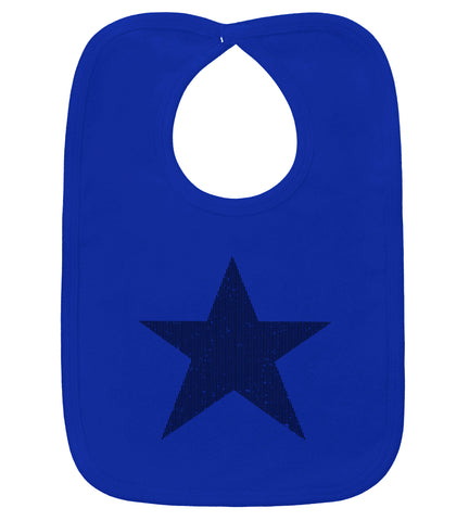 Star Royal Blue & Black Bib
