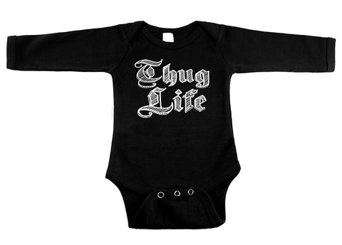 Thug Life Black Long Sleeve One Piece