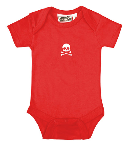 Tiny Skull & Crossbones Red & White One Piece