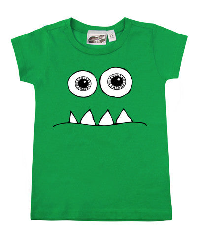 Wide Eyed Monster Green T-shirt - CLEARANCE
