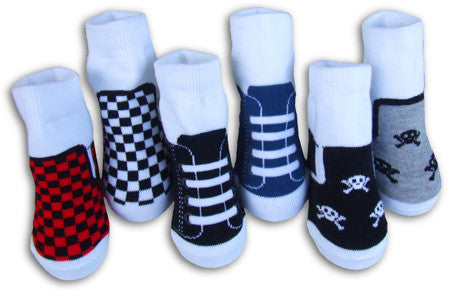 Boys Organic Sneaker Socks #1 6 Pair Set