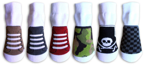 Boys Organic Sneaker Socks #2 6 Pair Set