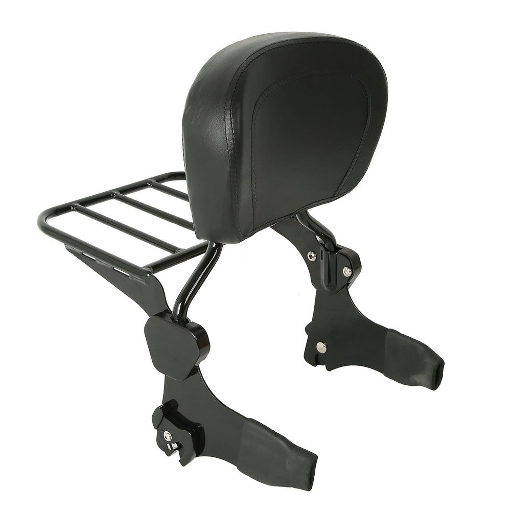 Bagger Brothers Detachable Backrest/Luggage Rack Combo - Black - Fits 1997-2008 Harley-Davidson® FLH Models