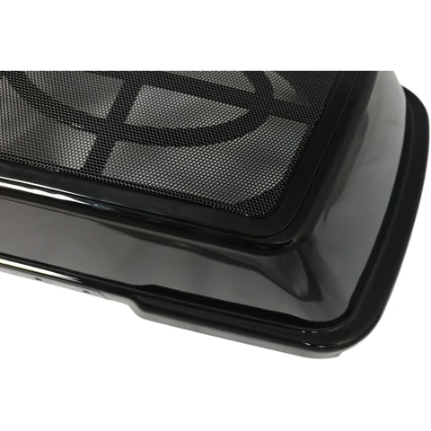 Bagger Brothers Speaker Lids 1996-2013 Painted Vivid Black with Metal Grill for Harley-Davidson® Touring Models Dual 6