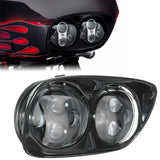 Bagger Brothers 80W LED Headlight and Trim Package for 2004-2013 Harley-Davidson® Road Glide Models, Bagger Brothers