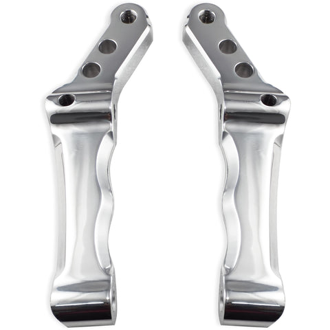 Bagger Brothers Radial Caliper Mounts for Harley-Davidson® Models with Dual Disk - Polished - Fits 2000-2017 Touring, Dyna, Softail, Bagger Brothers