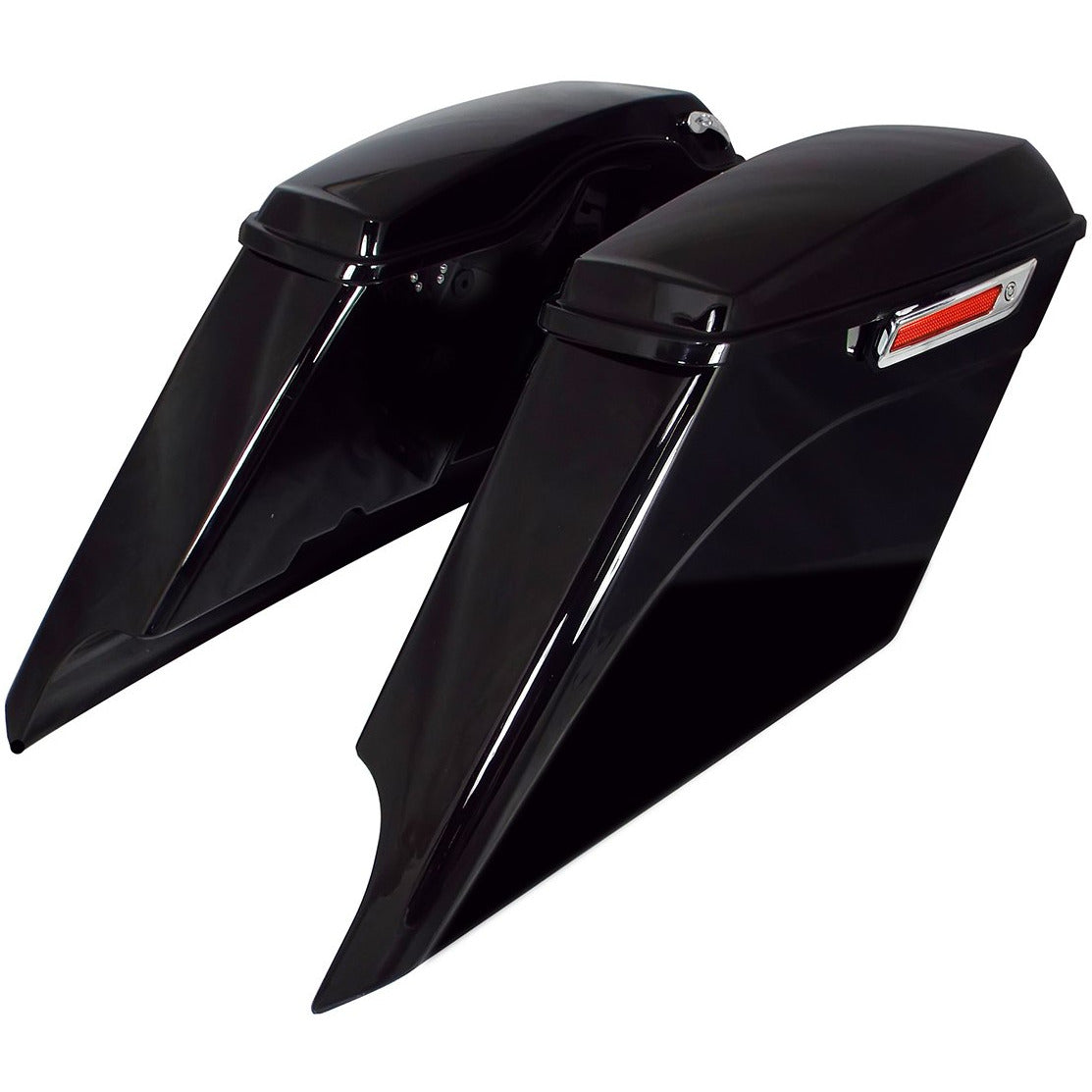 Bagger Brothers Saddlebag Complete Extended Kit 5 Down 5 Out Dual exhaust cut-outs Fits 2014-2021 Harley-Davidson FL Models