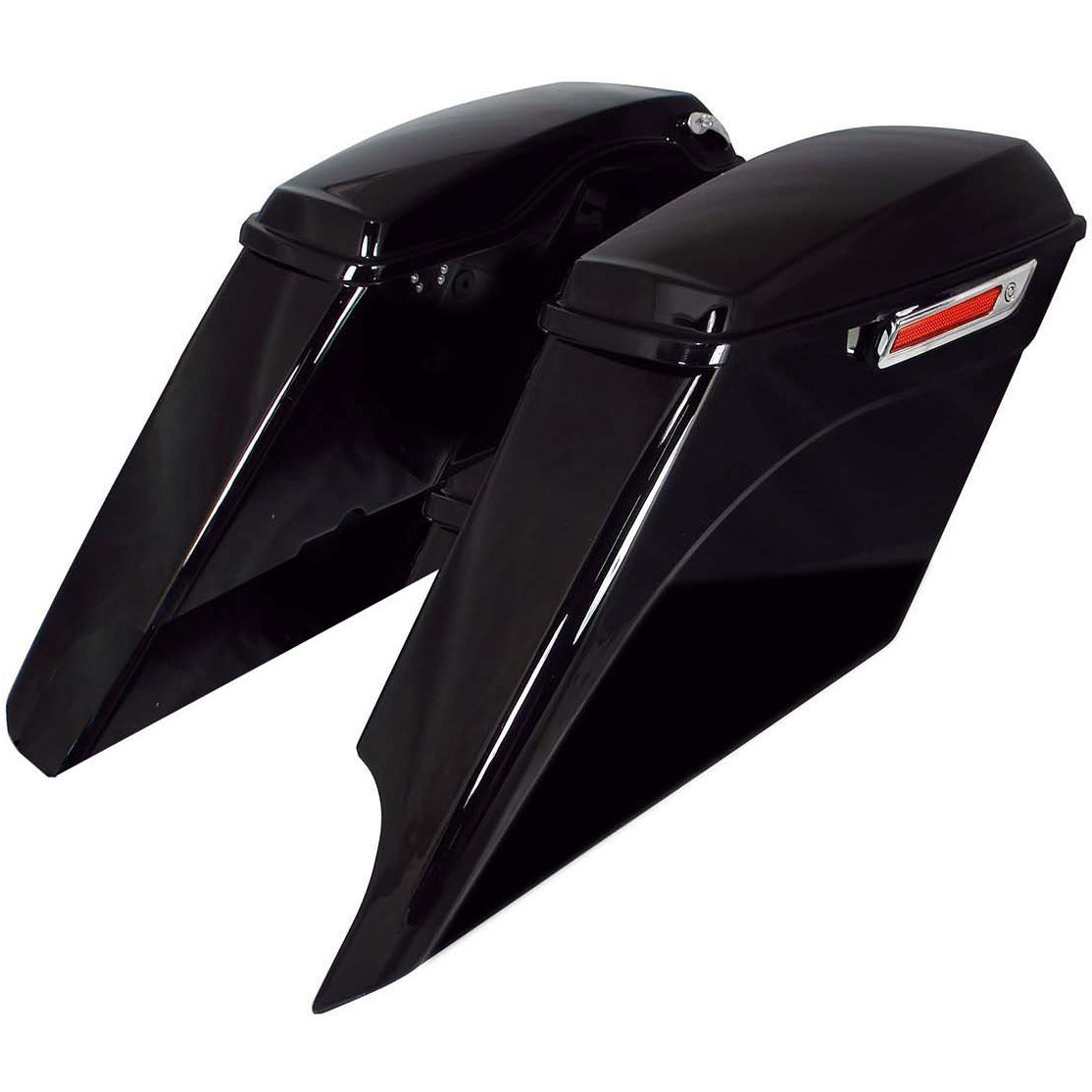 Bagger Brothers Saddlebag Complete Extended Kit 5 Down 5 Out Right Side Cut Outs Fits 2014-2020 Harley-Davidson FL Models